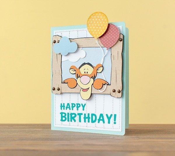 Happy Birthday Tigger Card Cricut Pooh Friends Pinterest
