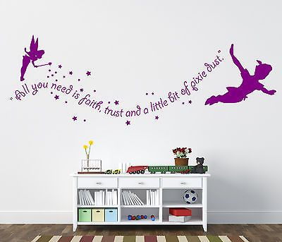peter pan wall stickers - tinkerbell wall stickers | nurseries