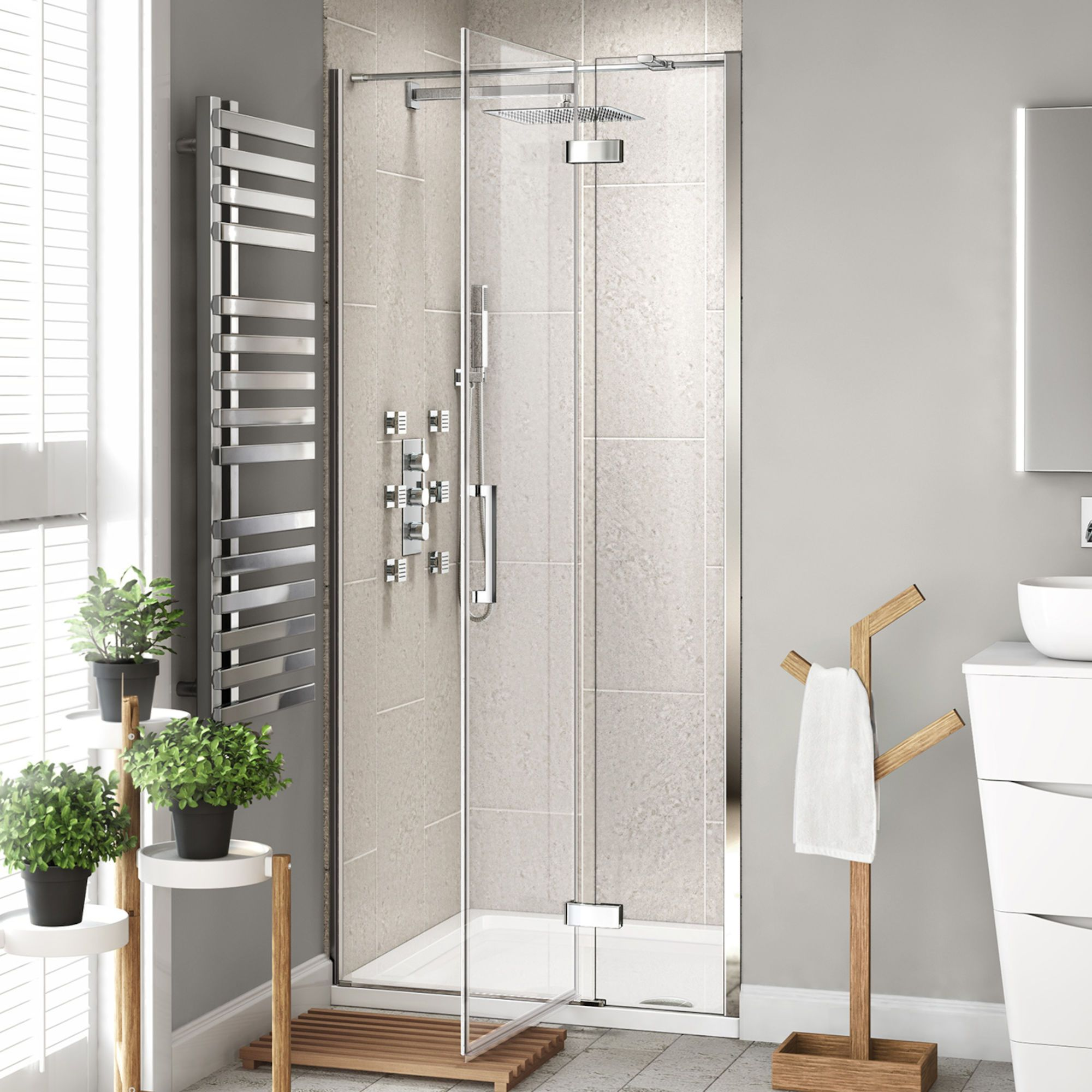 1200mm 8mm Premium Easyclean Hinged Shower Door Soak Com Shower Doors Frameless Shower Doors Shower Cubicles