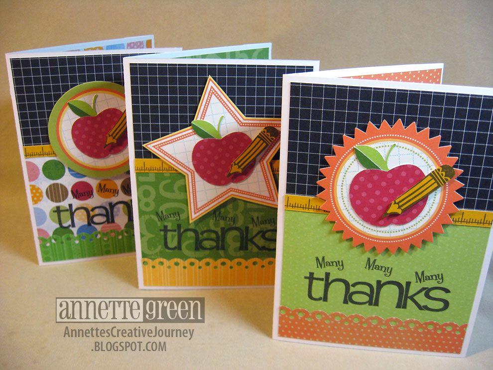 Creative journey teacher appreciation cards