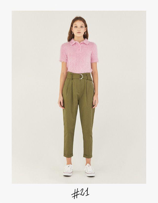 Pantalon Paperbag Con Cinturon Ropa Moda Moda Para Mujer