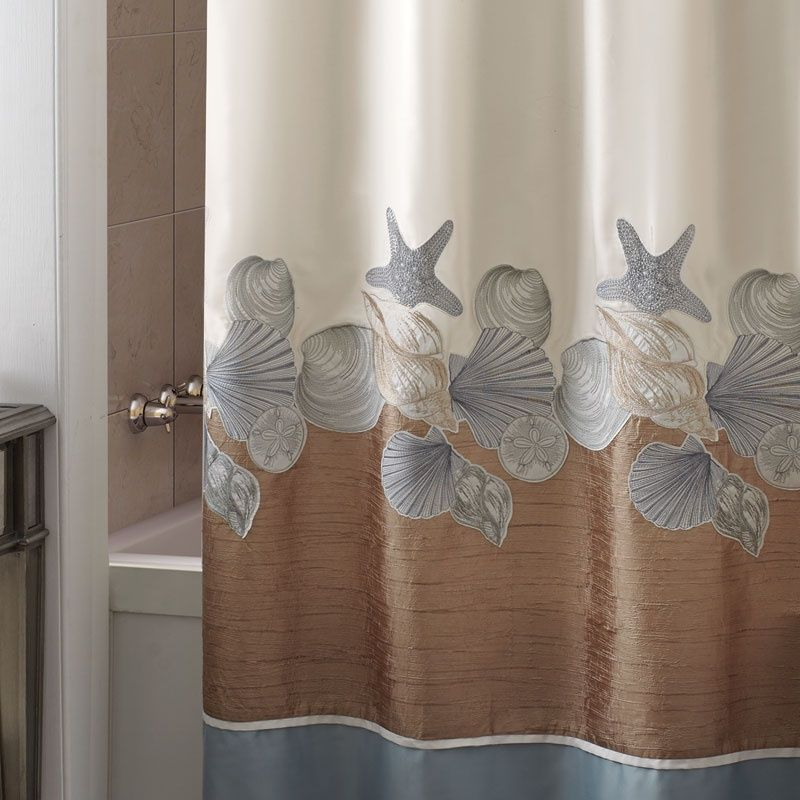 Croscill Shells Ashore Shower Curtain