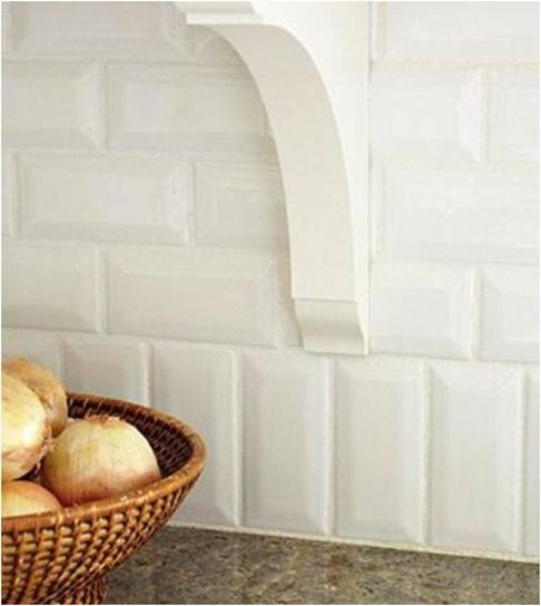tile backsplash midwest living love how they alternated the vertical and horizontal this might work