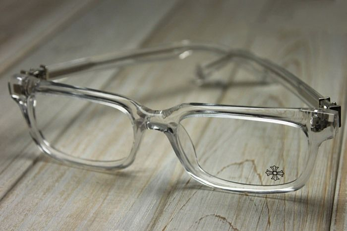 chrome hearts pontifass crys crystal clear glasses eyewear eyeglasses frame sterling silver