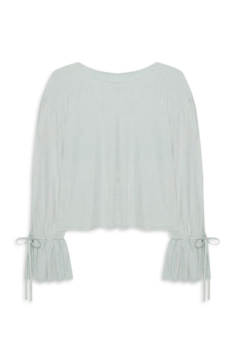 157621128faede Mint Flute Sleeve Top/ fashion/ primark/ top/ t-shirt blauw/ blauw ...