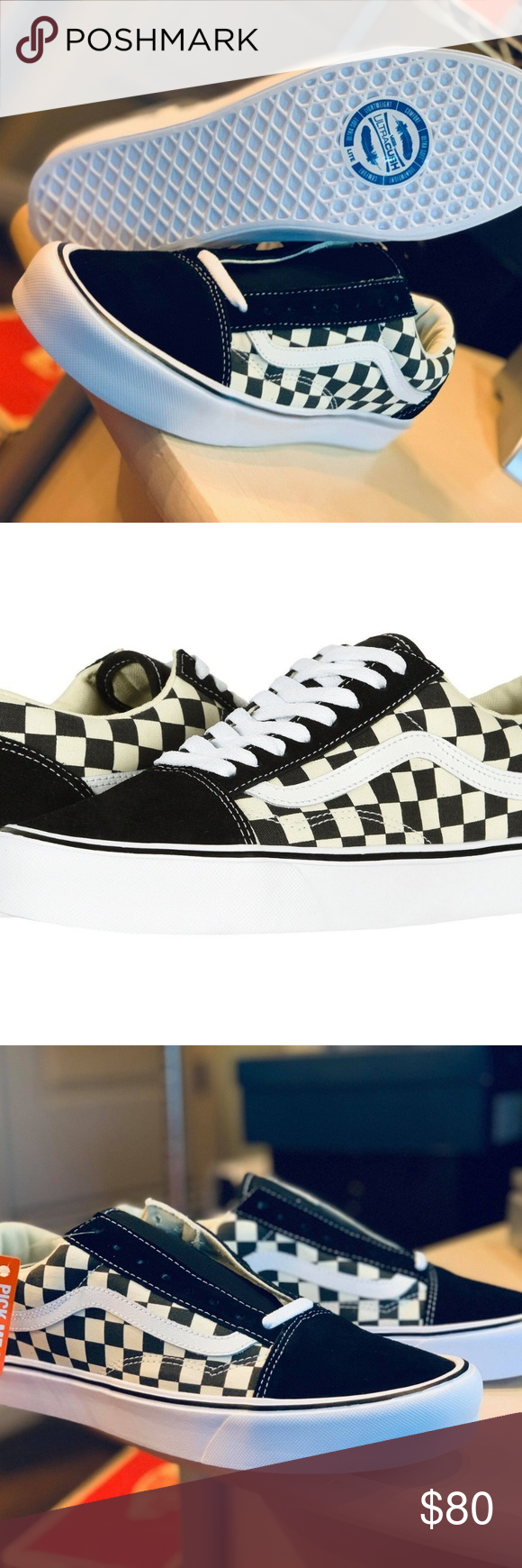 bc5976c941 Vans OLD SKOOL CHECKERBOARD LITE ULTRACUSH SKATE Give a nod to the past  while embracing the