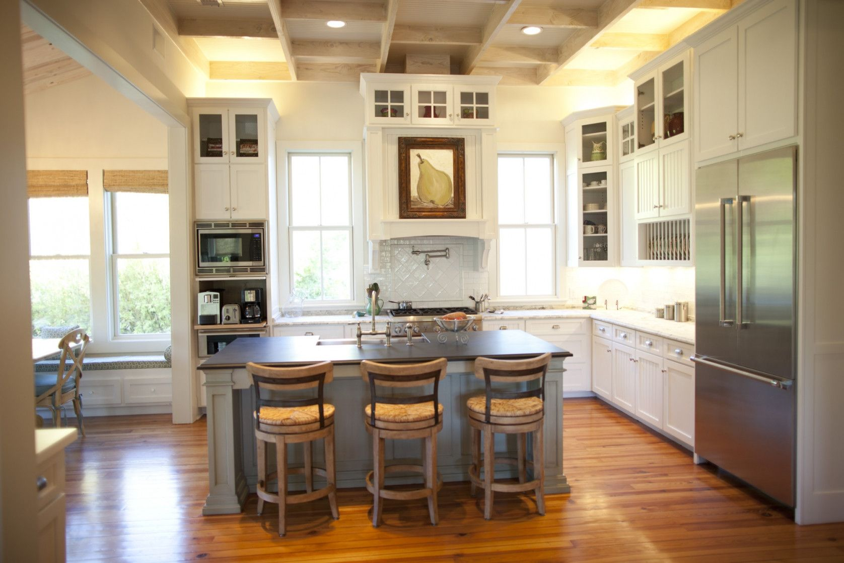 Upscale Kitchen Without Upper Cabinets | Swing Kitchen on kitchens without wall cabinets, kitchens with no upper cabinets, kitchens without top cabinets, white kitchen cabinets design ideas, kitchens with no windows designs,