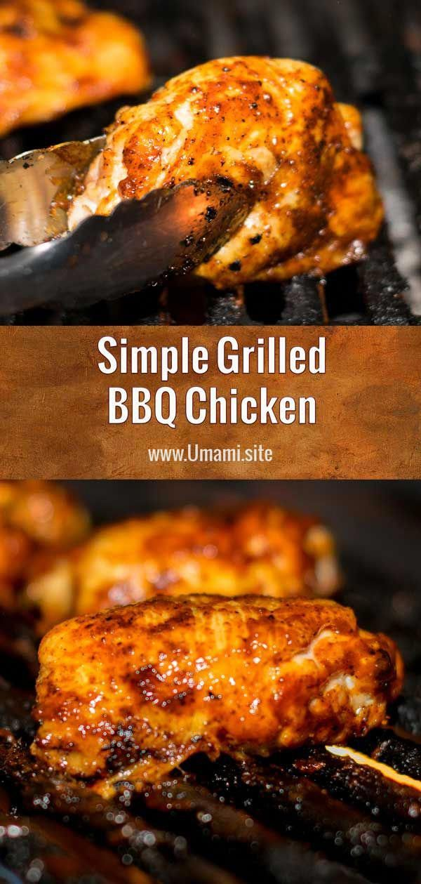This sweet, tangy grilled barbecue chicken recipe is a simple way to make slow-cooked, delicious, barbecue chicken on the grill.