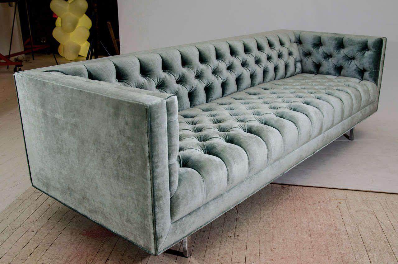 Modern Tufted Velvet Tuxedo Sofa 7 | Vintage sofa, Modern ...