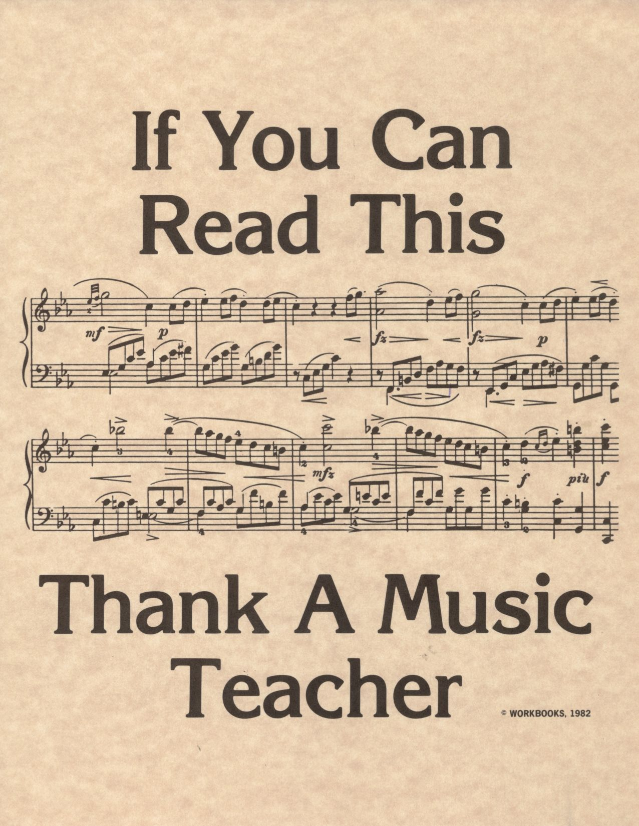 Thank your music teacher if you understand the language! # ...