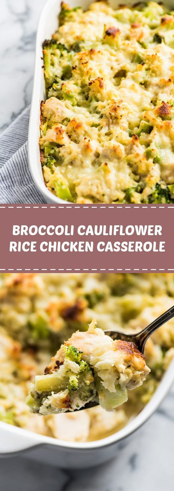 Broccoli Cauliflower Rice Chicken Casserole: Taking zootles for a bag of cauliflower ...   - Rice Recipes -