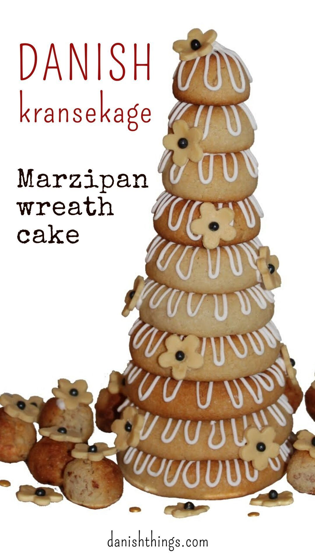 Kransekage - marzipan wreath cake - Danish Things