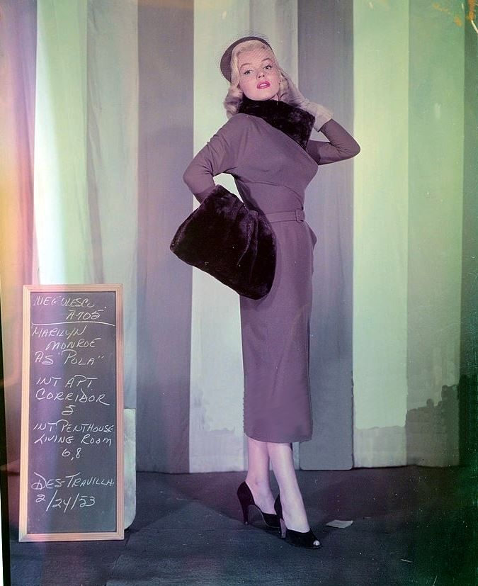 Marilyn In A Costume Test For How To Marry Millionaire 1953