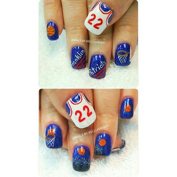 Basketball nails kellis nails pinterest basketball nails basketball nails prinsesfo Choice Image