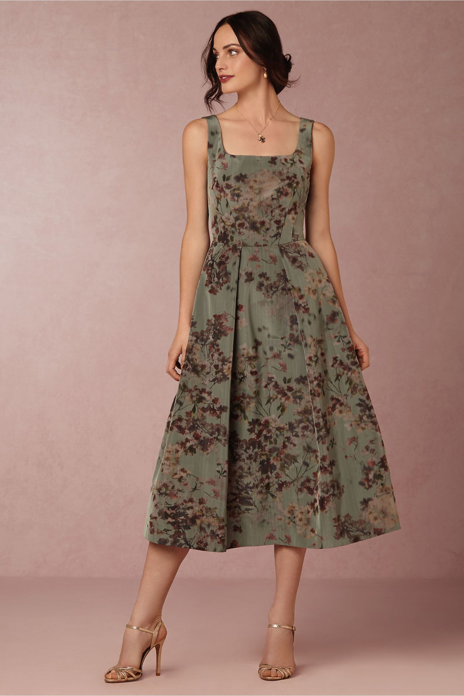 Floral Midi Length Mother Of The Bride Dress Olympia