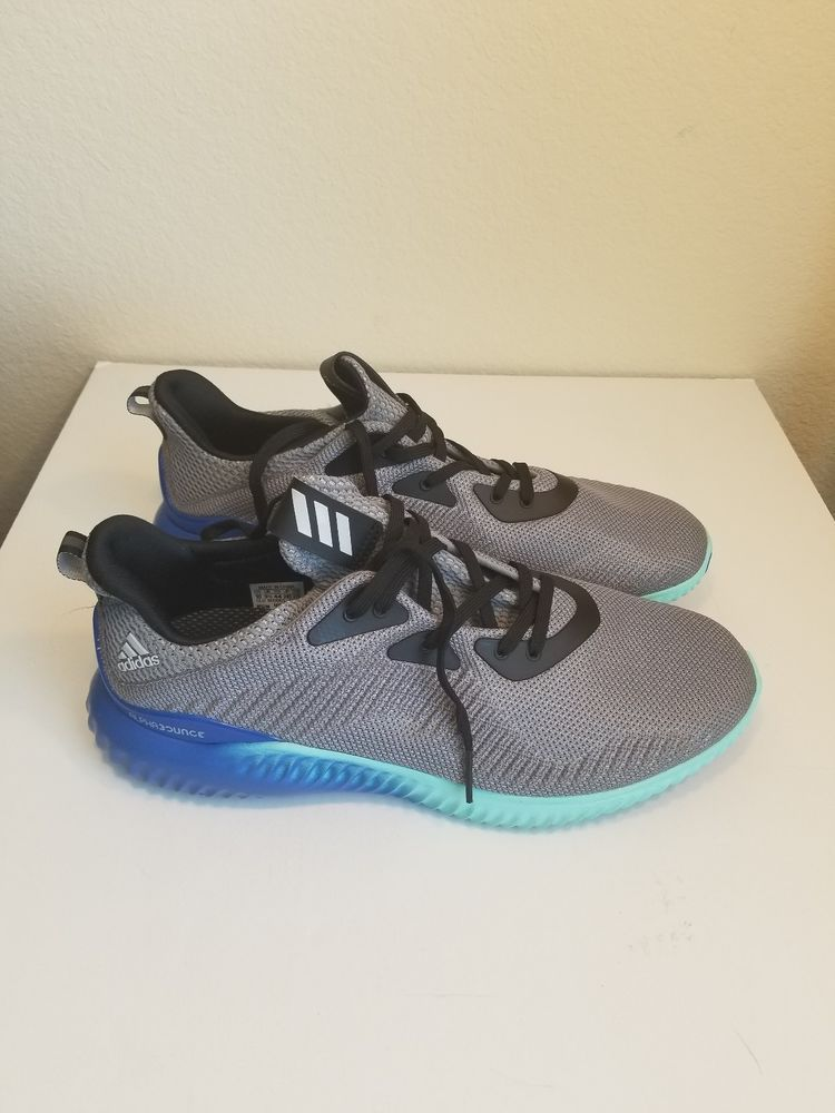 official photos 2cf26 66619 Mens Adidas Originals Alphabounce 1M BB9035 Grey Aqua Blue Size 10 fashion  clothing
