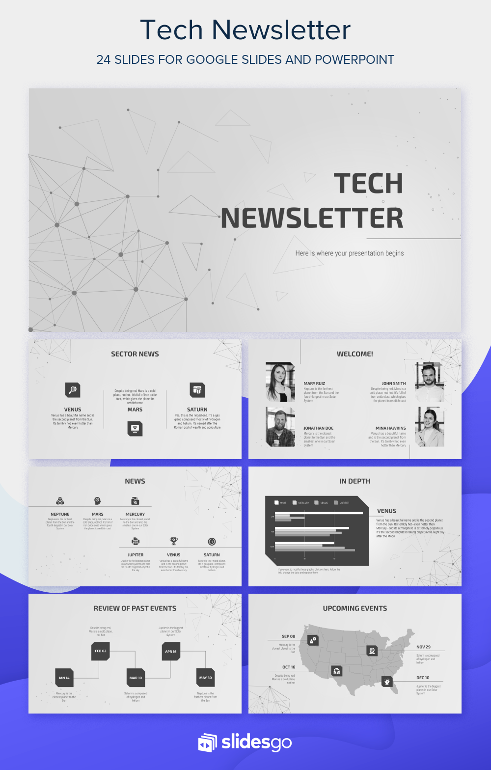 Tech Newsletter Presentation Free Google Slides theme