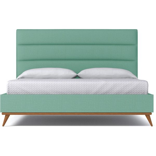 Apt2b Cooper Mint Green Upholstered Bed King Upholstered Bed King Size Platform Bed Upholstery Bed