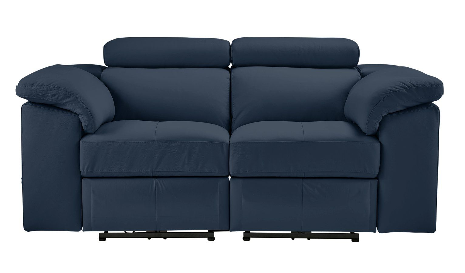 Argos Home Valencia 2 Seater Leather Recliner Sofa Blue In 2020 Leather Recliner Reclining Sofa Sofa
