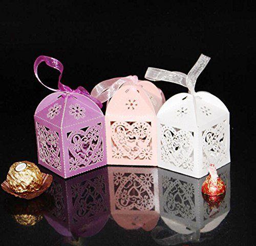 Hosaire 100 Hochzeit Sussigkeiten Hochzeit Geschenke Papier Candy