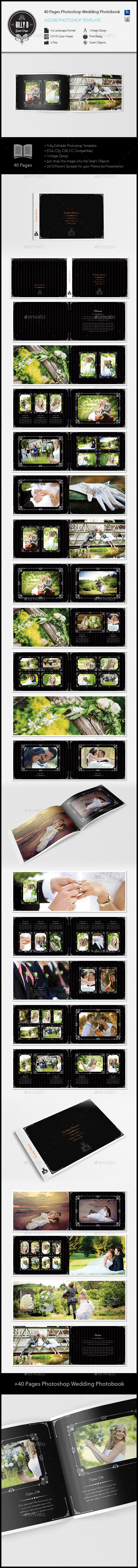 40 Pages Photoshop Wedding Photobook Template - #Photo #Albums Print ...