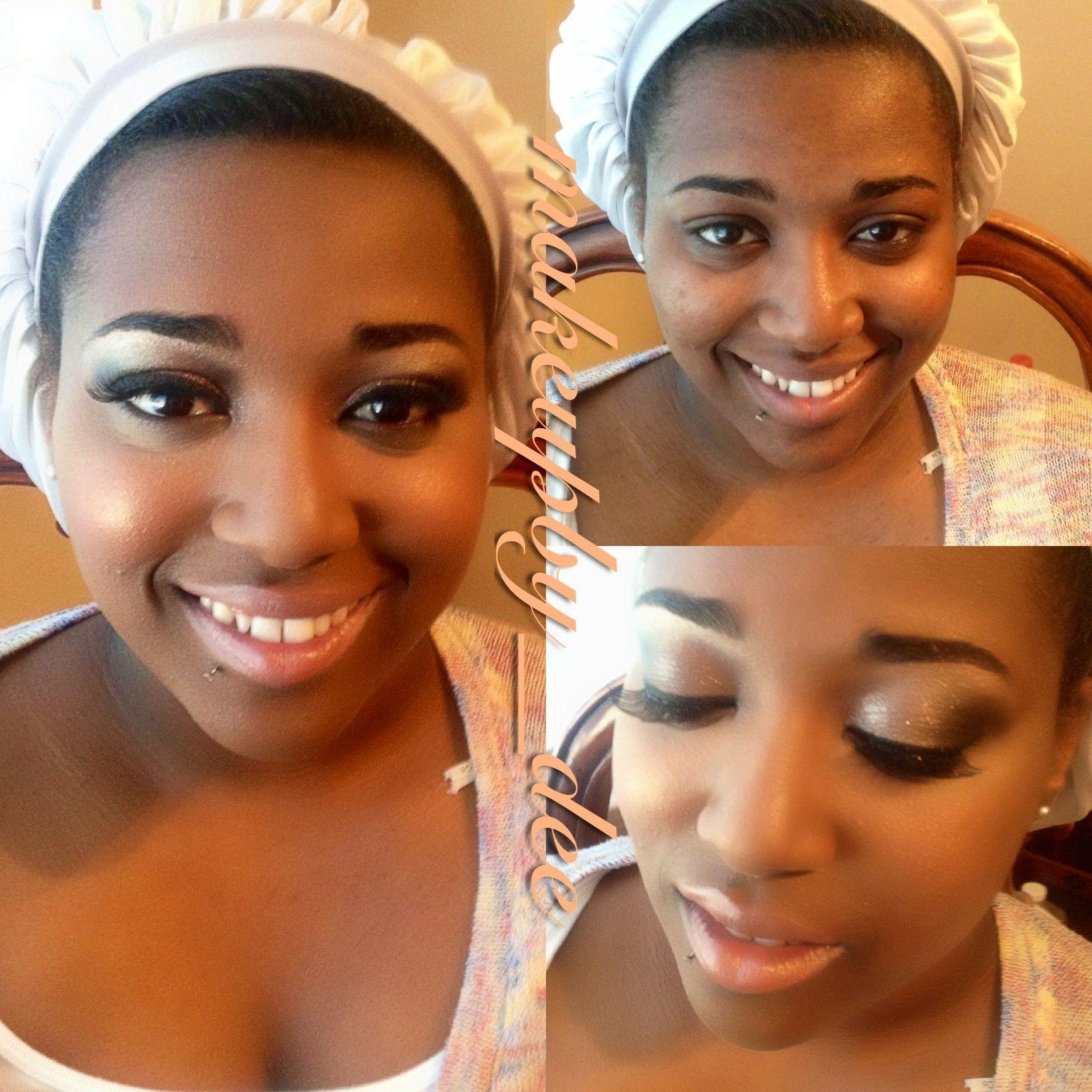 Bridesmaid makeup for woman of color Bridesmaid makeup