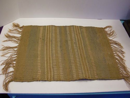 Vintage Indian Weaved 100 Jute Accent Rug Table Runner Placemat Western | eBay