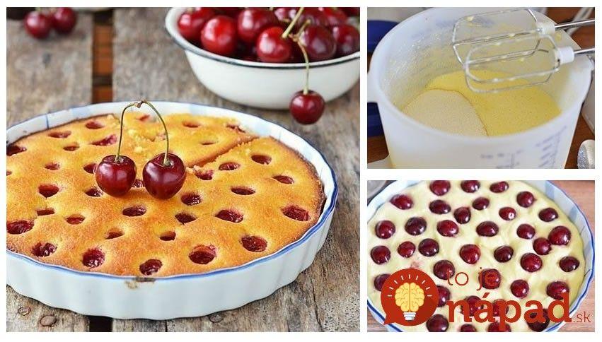 Rýchly čerešňový koláč