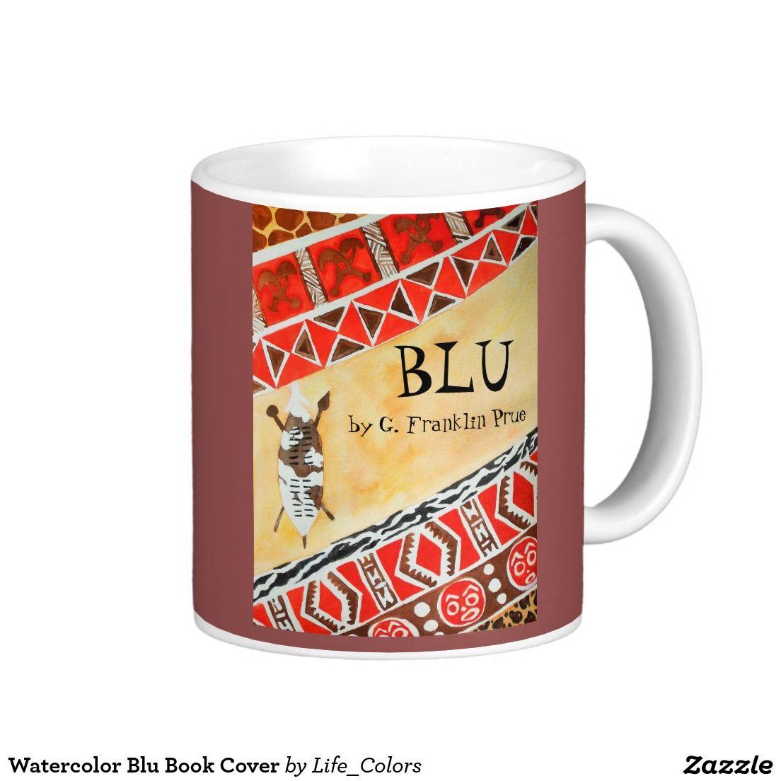 Watercolor book covers - Watercolor Blu Book Cover Coffee Mug