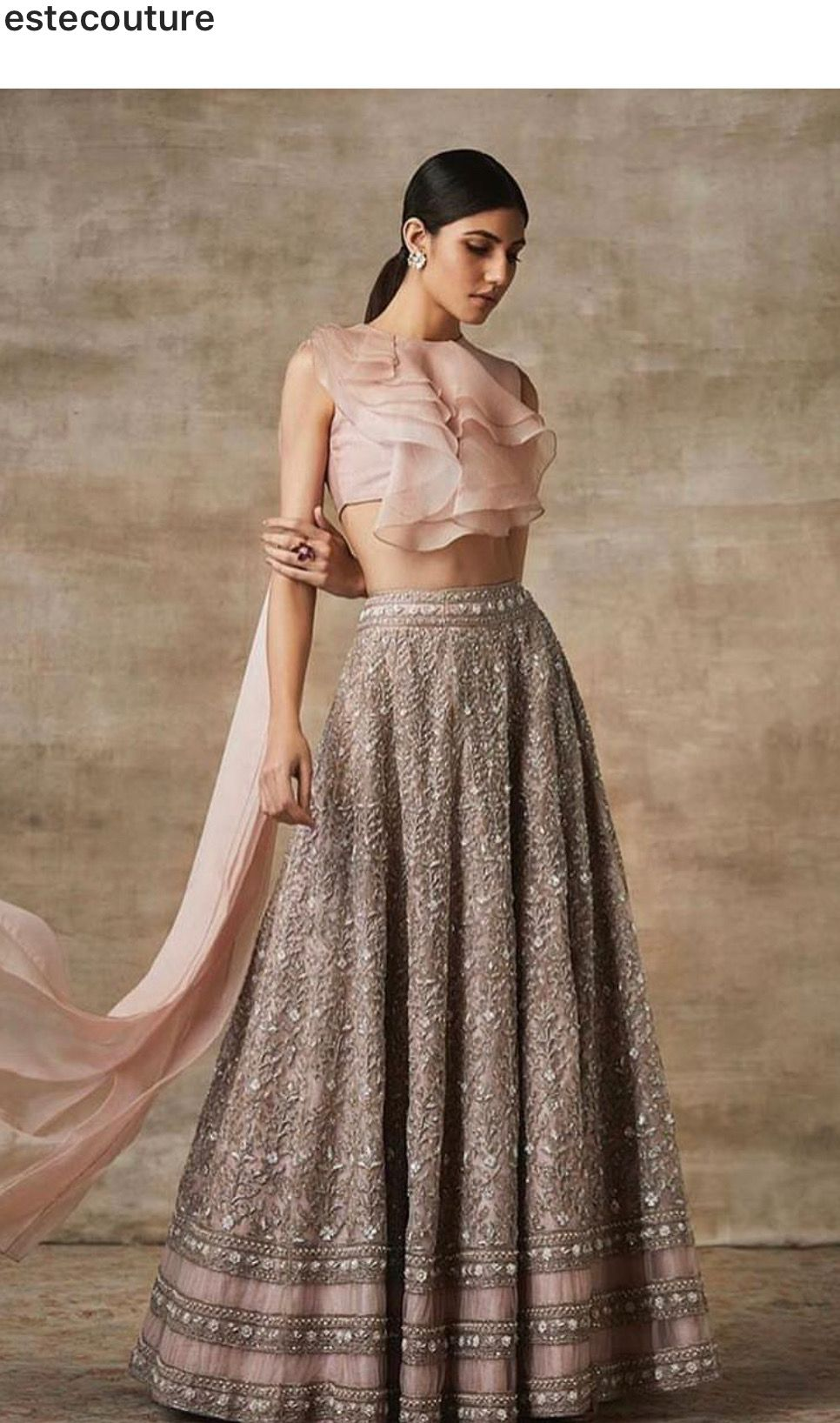 6519086deee One should ruffle top contemporary #lehenga #modern #indianfashion ...