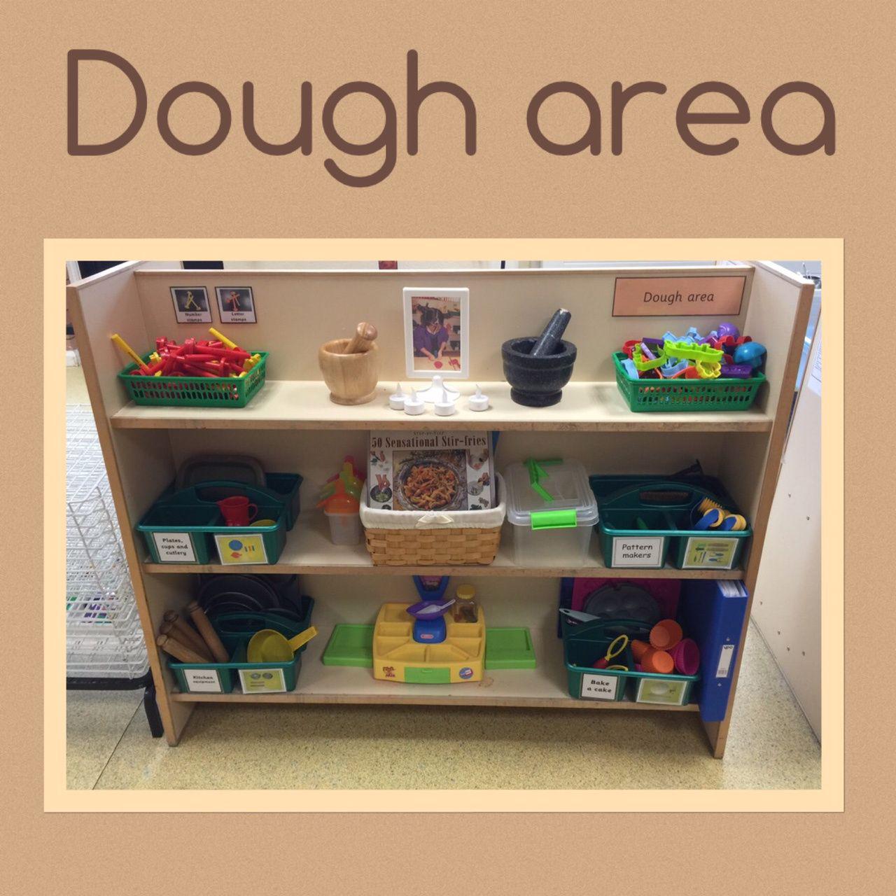 Classroom Design Ideas For Preschool: Dough Area Set-Up Idea (from Tishy Lishy)