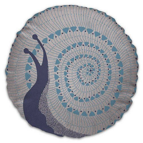 Snail Creature cushion - Blue