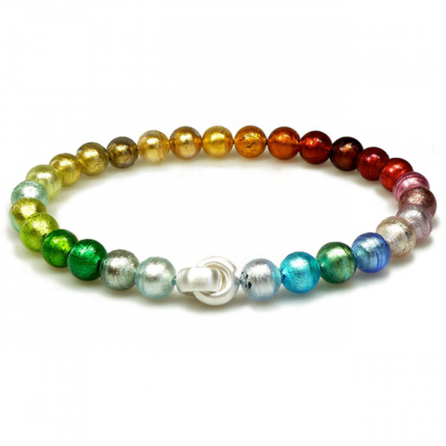 bracelet perle verre murano
