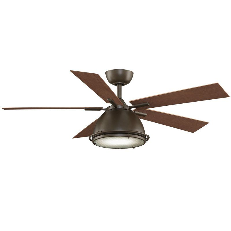 View The Fanimation Breckenfield 52 5 Blade Industrial Ceiling Fan Blades Light Kit And Remote Control Included At Lightingdirect Com