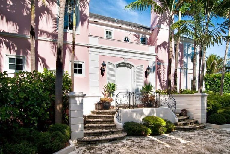 Pink home beauty Palm beach, Beach mansion, Pink houses