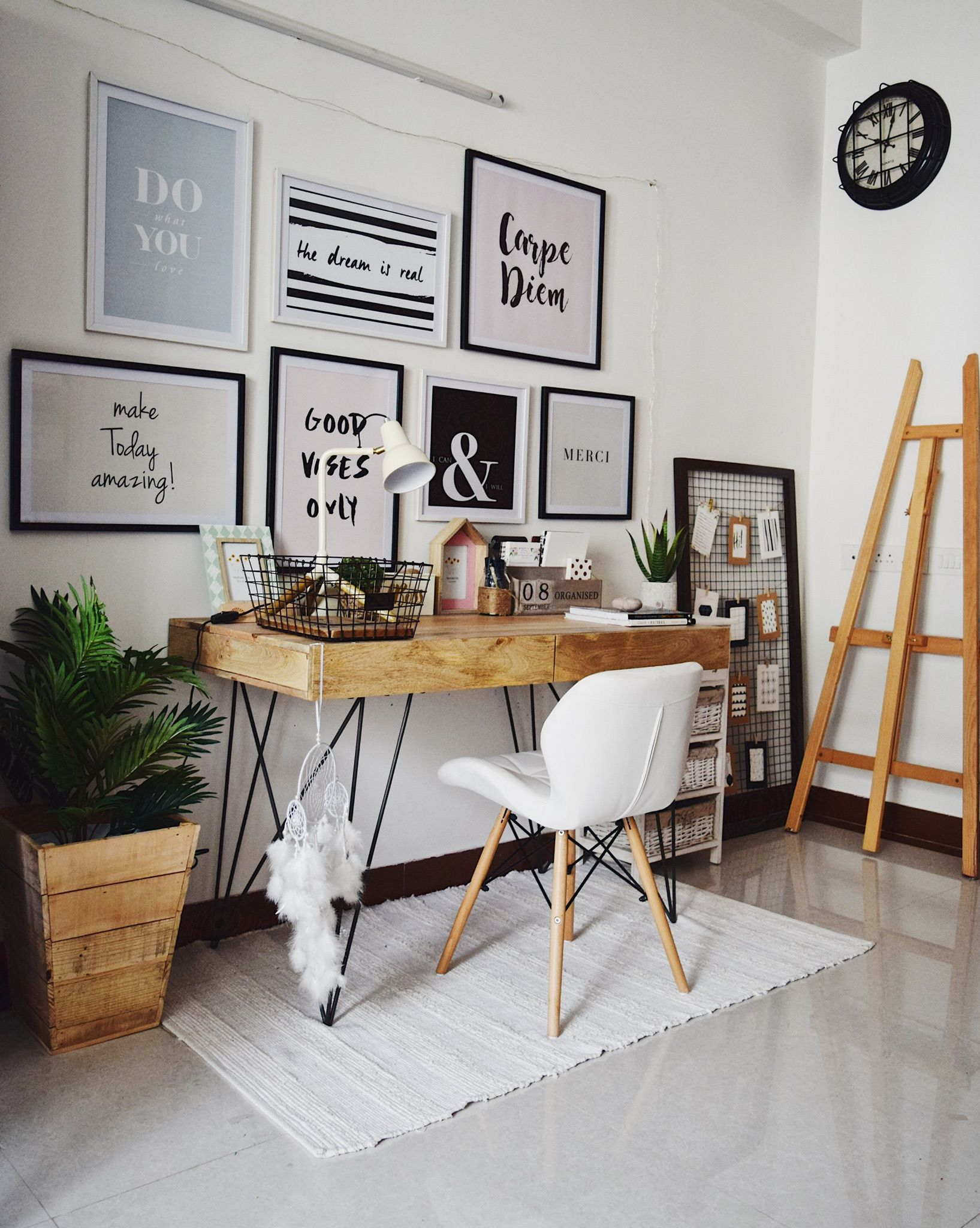 design home office space worthy. A Pinterest Worthy #workstation. From Home In Chennai. #homeoffice #workspace Design Office Space S