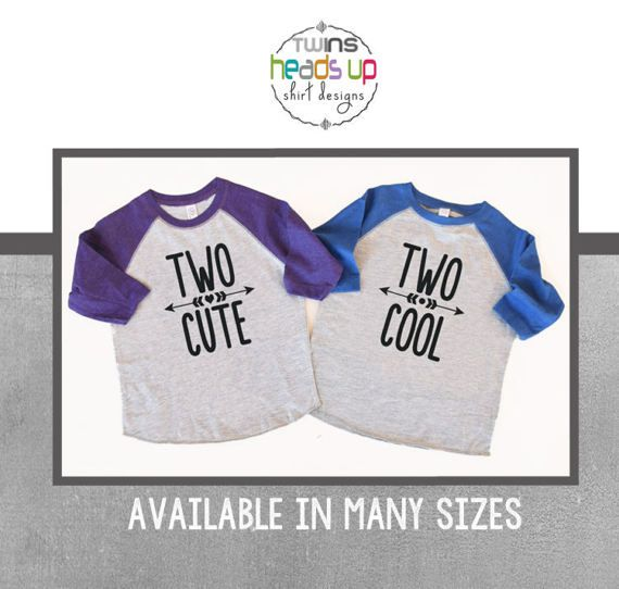 Twin 2nd Birthday Shirts Boy Girl Second Bday Tees Raglan