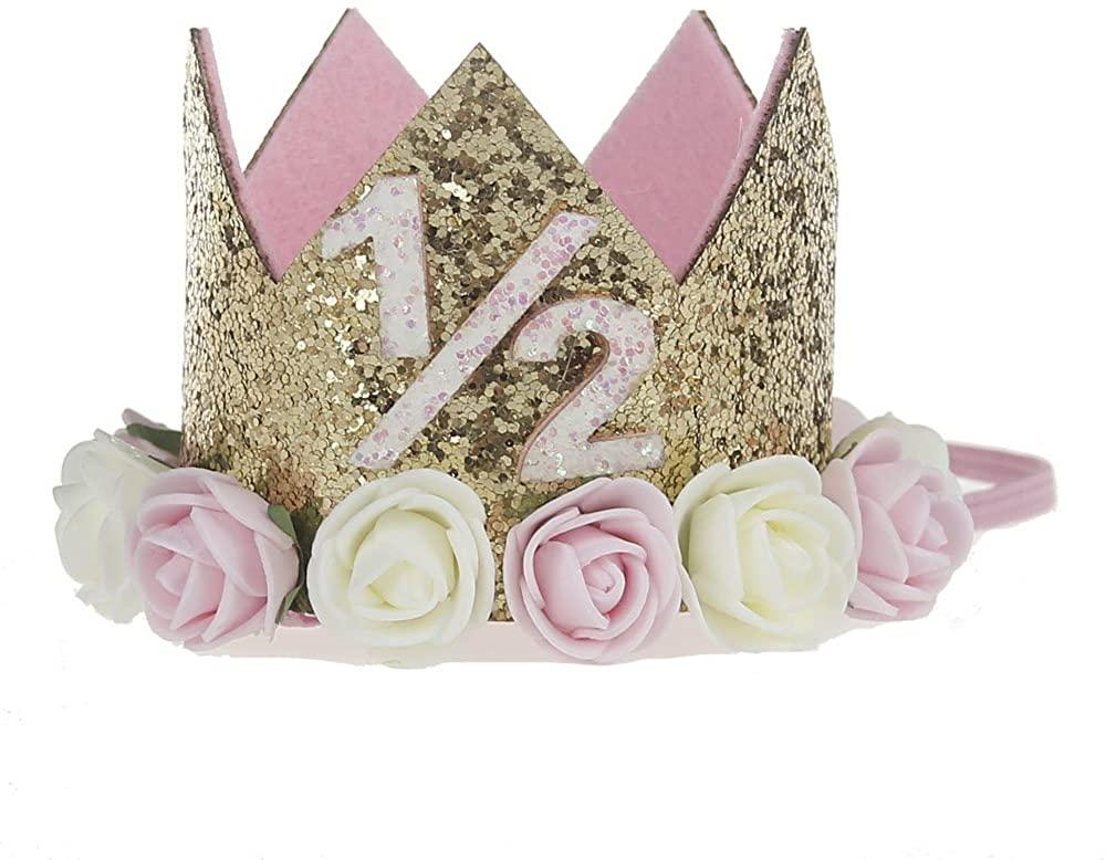 Amazon Com Baby Princess Tiara Crown Baby Girls Kids First Birthday Hat Sparkle Gold Flower Style With Arti In 2020 Flower Fashion First Birthday Hats Princess Tiara