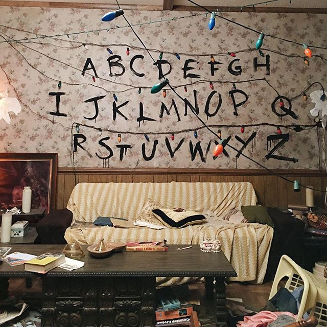 7 chilling ways to turn your house into the stranger for Things in a living room