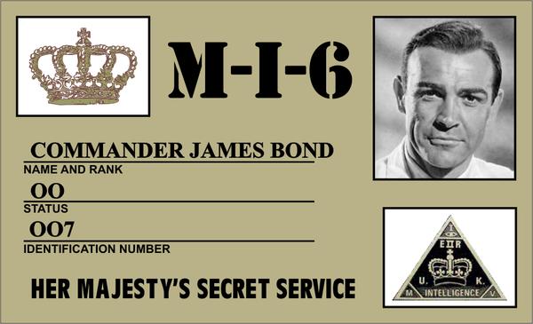 007 James Bond Id Card By Cmdrkerner On Deviantart James Bond James Bond Party 007 James Bond