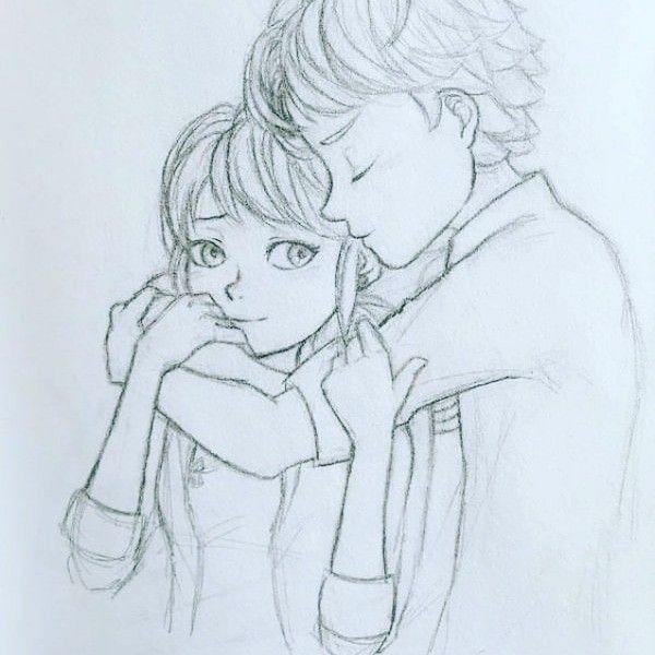 Pin by Aaryan Sinha on pencil art | Cute couple drawings ...
