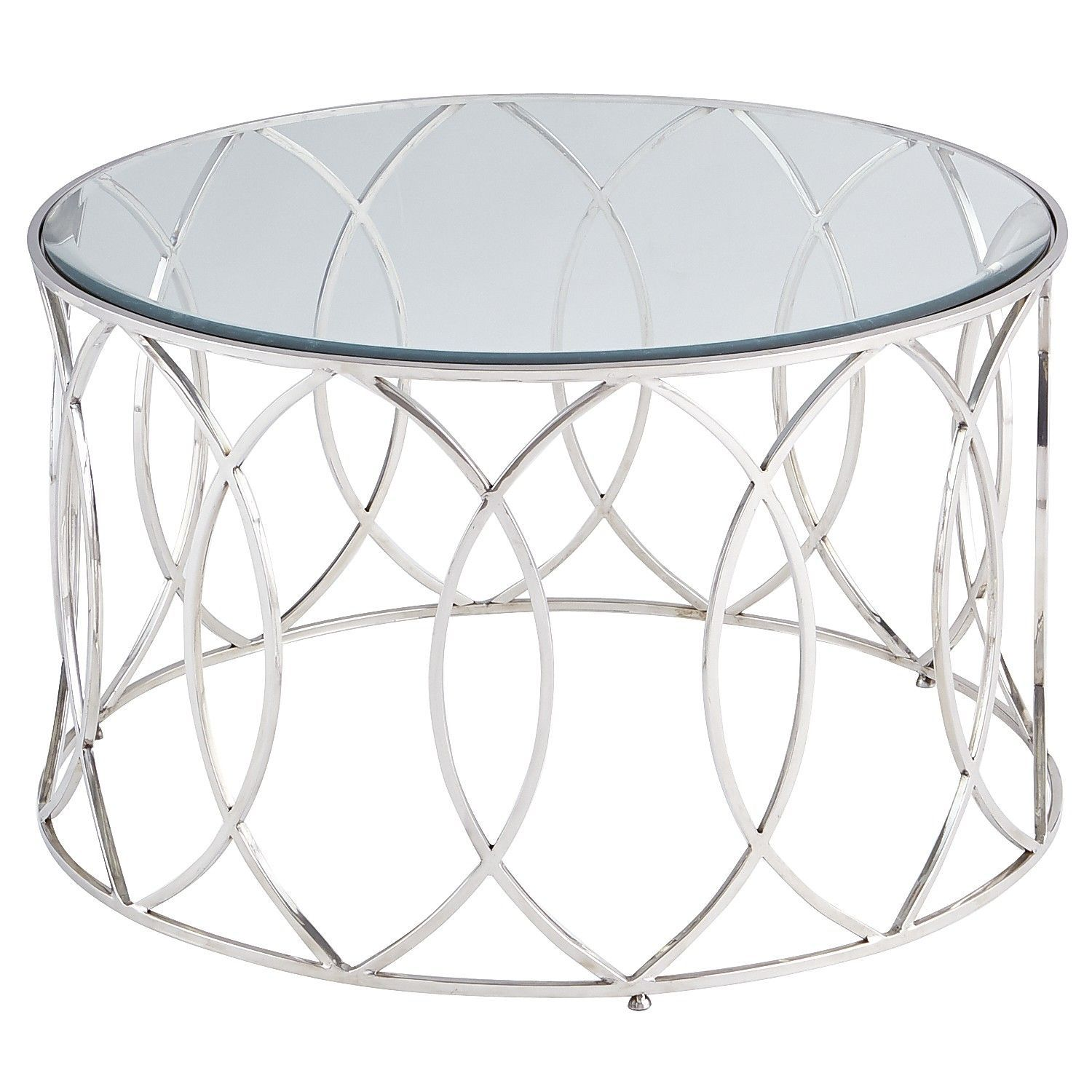 Round Coffee Table Silver 6