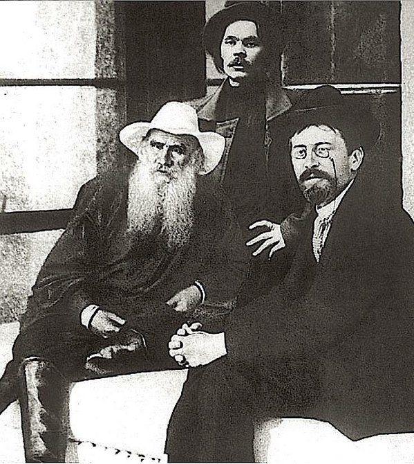 Tolstoy Gorky Chekhov Russian Writers Writer Portrait