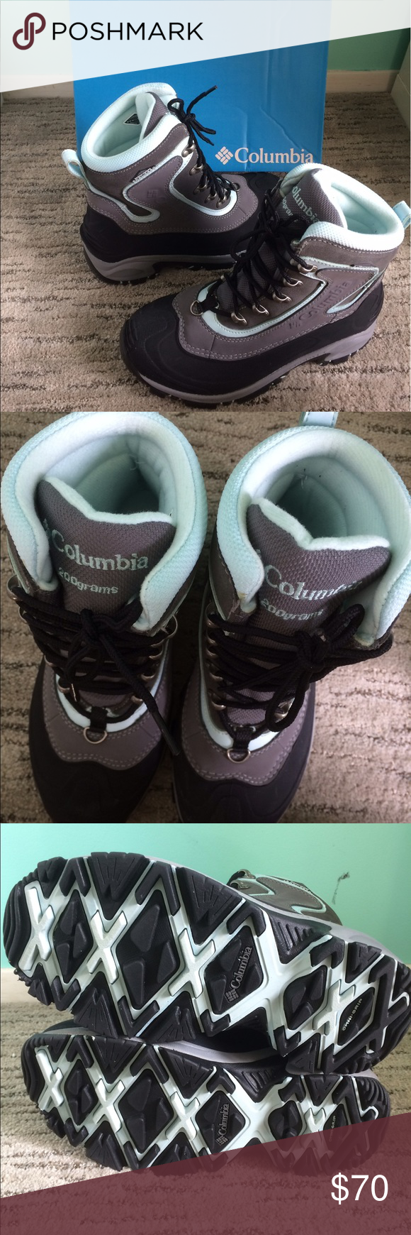 Columbia Whitefield Omni Tech Boots Size 8.5 Columbia