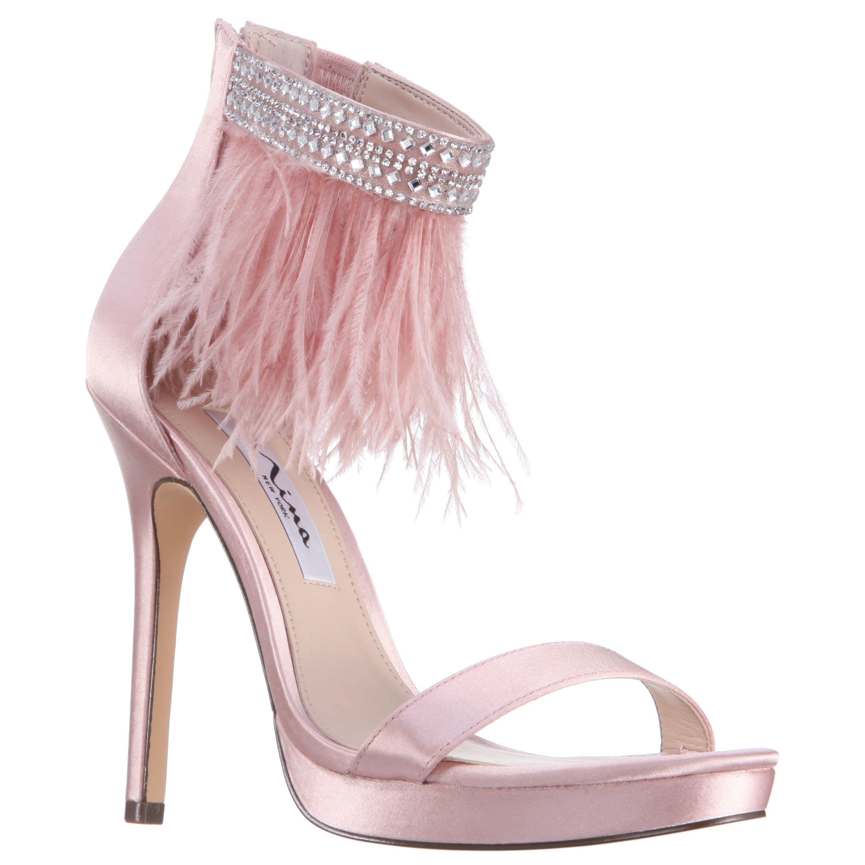 BLUSH CRYSTAL SATIN | Dress sandals, Stiletto heels, Bride