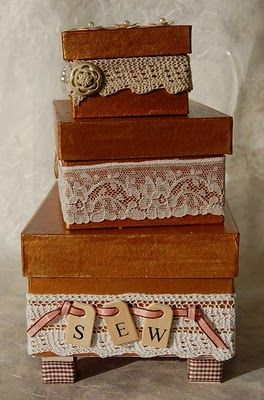 "Art and Inspirations: "" A stitch in time saves nine"" sweet sewing box"