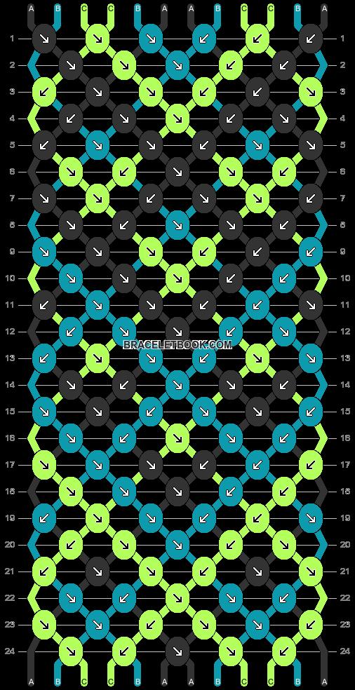 Normal Pattern 31209 Variation 20749 Braceletbook In 2020 Friendship Bracelets Tutorial Macrame Tutorial Geek Cross Stitch