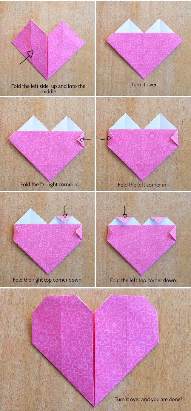 Make an Origami Heart | crafts. | Origami, Origami Heart ...