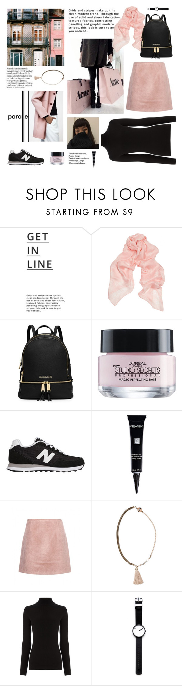 """Follow your dreams"" by divadiscodiva ❤ liked on Polyvore featuring Chanel, Metropolis, Lipsy, Alexander McQueen, MICHAEL Michael Kors, L'Oréal Paris, New Balance, Dermablend, Acne Studios and Lanvin"