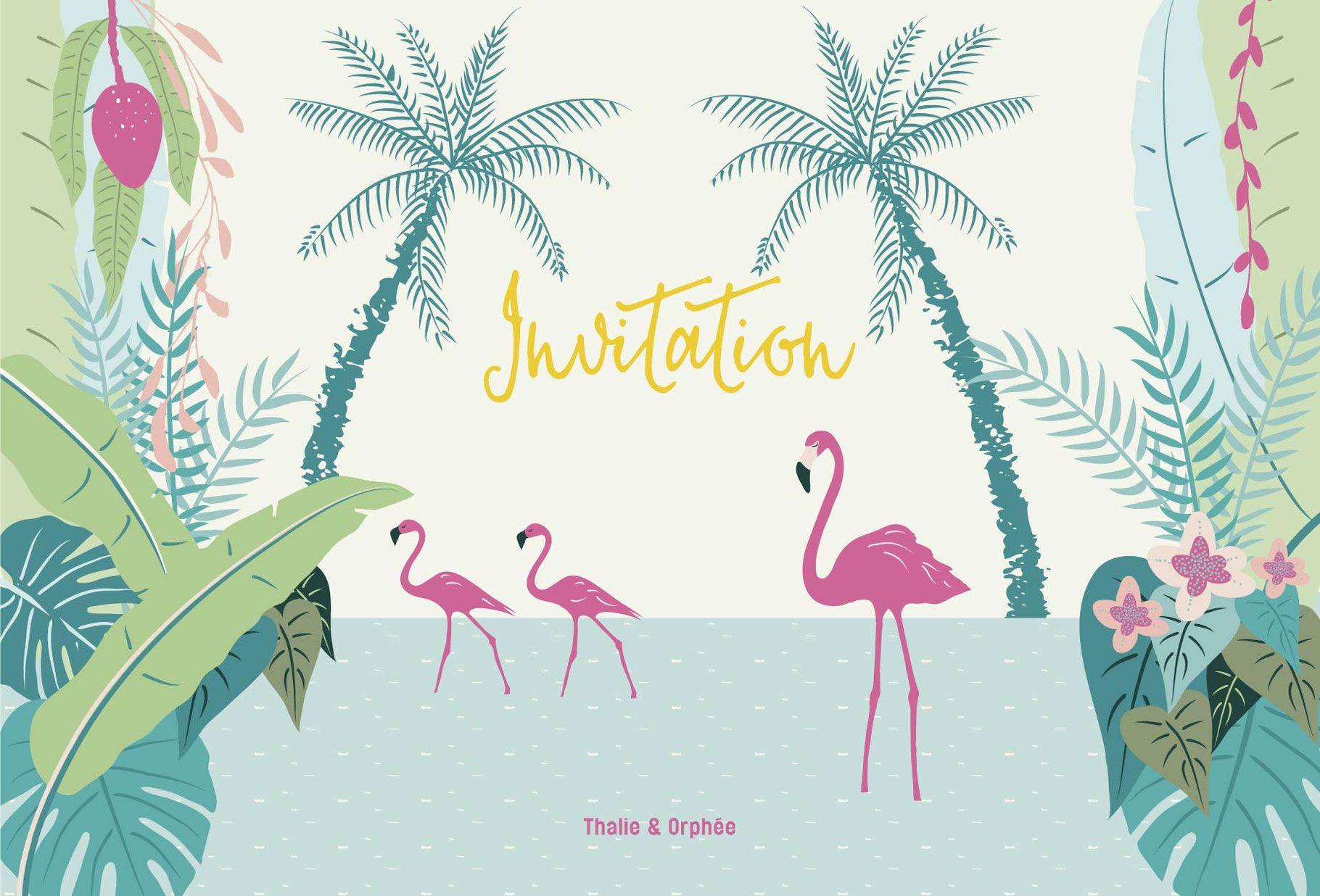 cartes invitation jungle pour fetes d